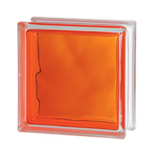 Brique de verre Verhaert 'Brilly' orange