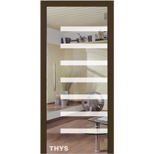 Porte en verre sécurit Thys 'Thytan Everyway' 1708 211x83cm