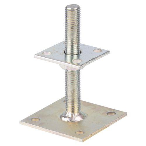 I-paalhouder verstelbaar verzinkt staal 30-150 mm