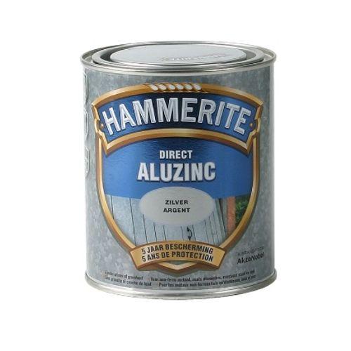 Laque métaux Hammerite 'Direct AluZinc' brillant gris argent 750ml