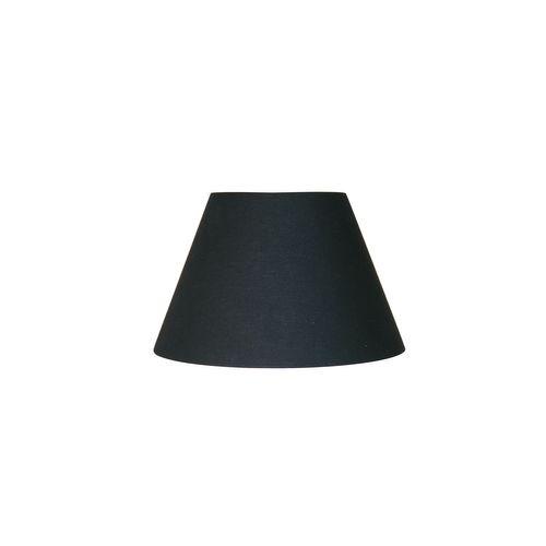 Abat-jour Corep coton toiline noir Ø25cm