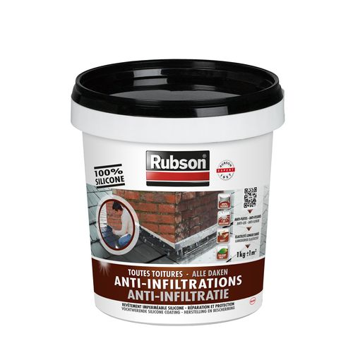 Rubson anti-infiltratie siliconen zwart 1kg