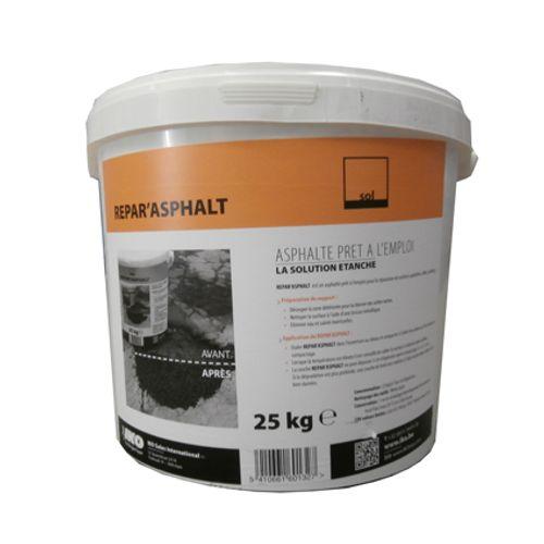 Réparation asphalte Aquaplan 'Repar'Asphalt' 25 kg