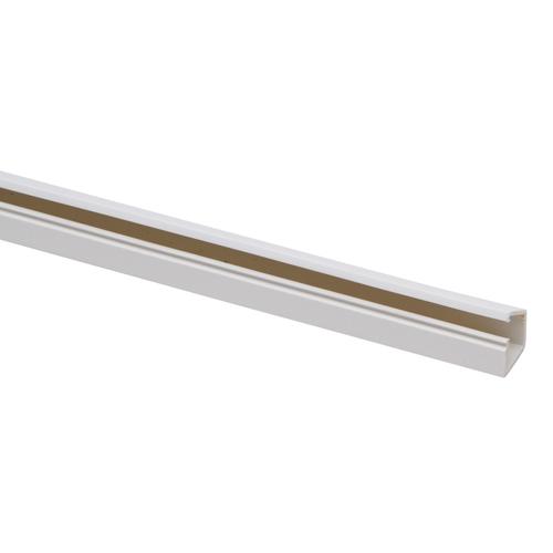 Kopp kabelgoot 12,5x13mm + plakstrip 1m