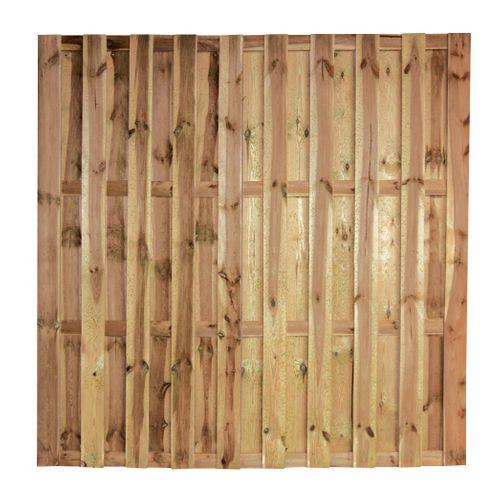 Ecran de jardin droit 'Multi' pin brun 180 x 180 cm
