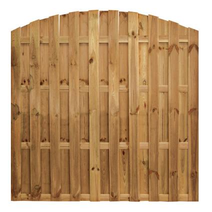 Tuinscherm getoogd 'Multi' grenenhout bruin 180 x 180 cm