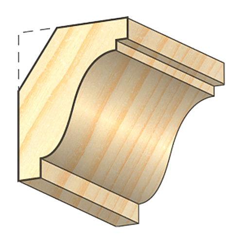 JéWé plafondlijst grenen 3,2x4,2x240cm