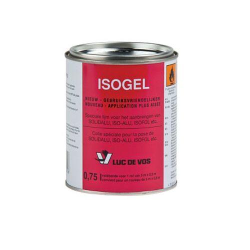 Luc De Vos speciale lijm voor het aanbrengen van Isofol 'Isogel' 750ml