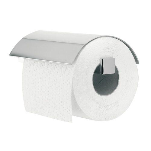 Porte-rouleau de papier toilette avec couvercle Tiger Items chrome