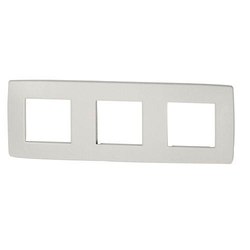NIKO Drievoudige afdekplaat horizontaal Original White