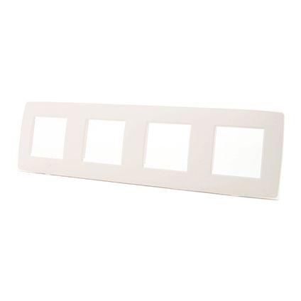 NIKO Viervoudige afdekplaat horizontaal Original White