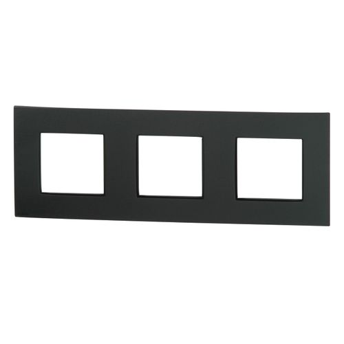 Plaque triple horizontale Niko 'Intense' anthracite