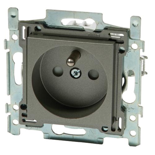 Niko stopcontact 28,5 mm 2P + aardpen 'Intense' bronze