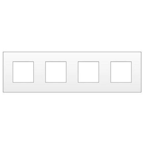 Plaque de recouvrement Niko 4x horizontale intense blanc
