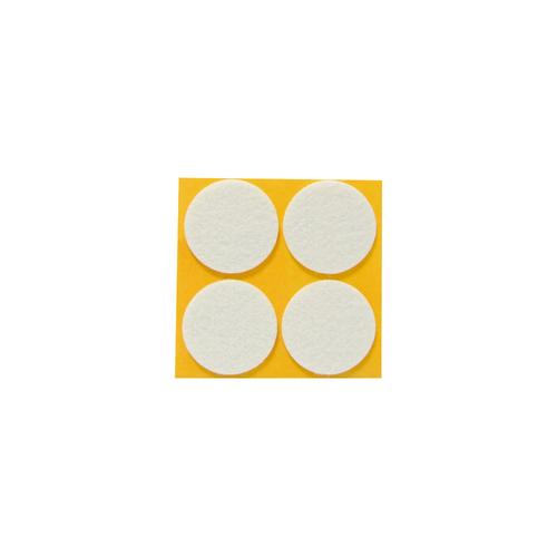 Patin feutre synthétique Sencys blanc Ø 35 mm - 4 pcs