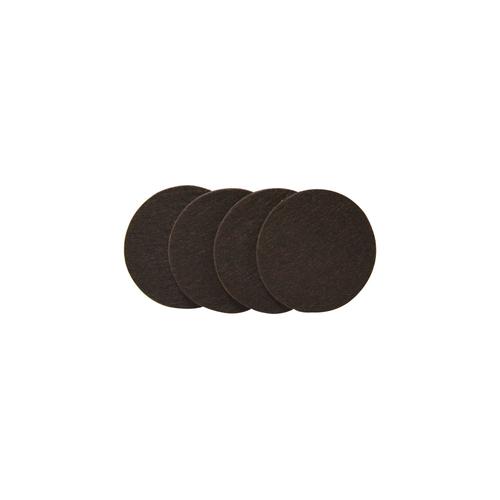 Patin feutre synthétique Sencys brun Ø 50 mm - 4 pcs