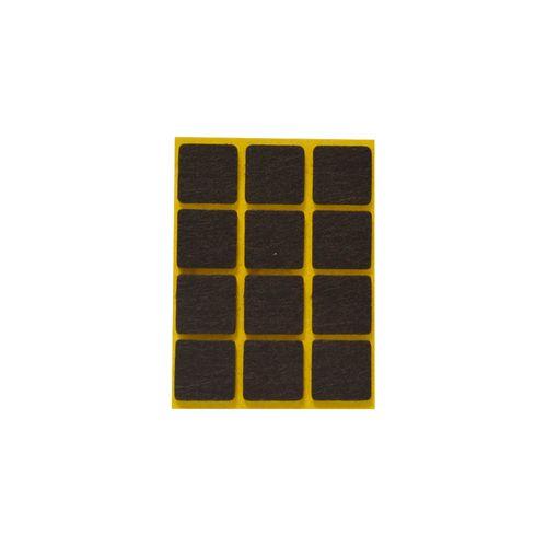 Patin feutre synthétique Sencys brun 20 x 20 mm - 12 pcs