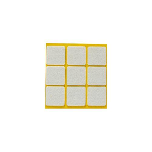 Patin feutre synthétique Sencys blanc 25 x 25 mm - 9 pcs
