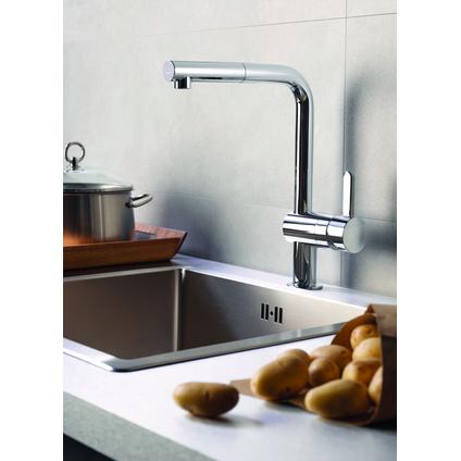 Grohe keukenmengkraan Flair met uittrekbare handdouche chroom