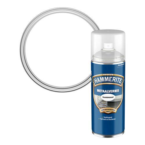 Hammerite metaalvernis hoogglans transparant 400ml