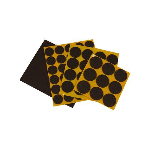 Baseline promo pack vilt rond bruin - 56 stuks