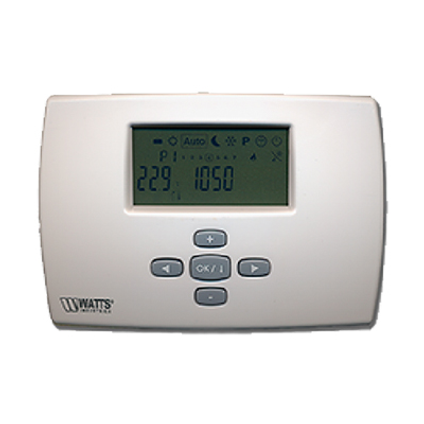 Thermostat d'ambiance programmable Saninstal digitale 7 jours blanc