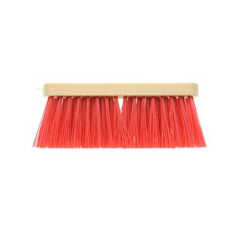 Vero straatbezem hout kunstvezel rood 27,5 cm zonder steel