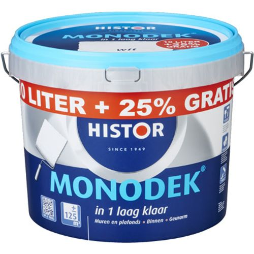 Histor latex Monodek mat RAL 9001 10L + 2,5 liter