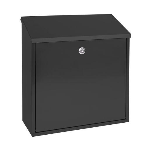 Sencys brievenbus gegalvaniseerd staal zwart