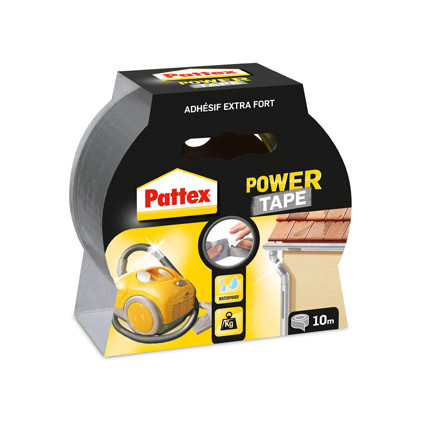 Pattex afplaktape 'Power Tape' grijs 10m