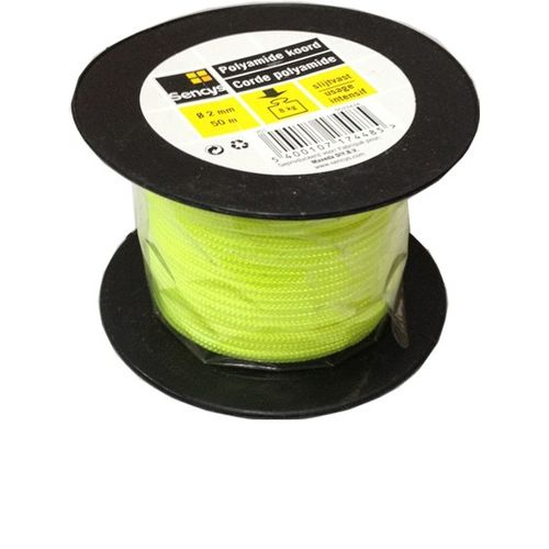 Sencys polyamide koord geel 2 mm x 50 m