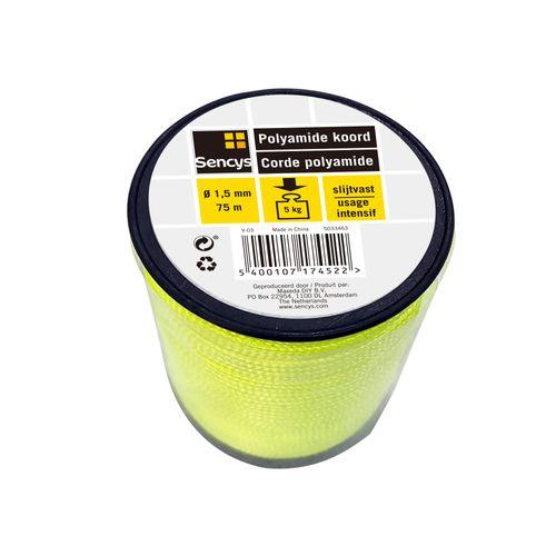 Sencys polyamide koord  geel 1,5 mm x 75 m