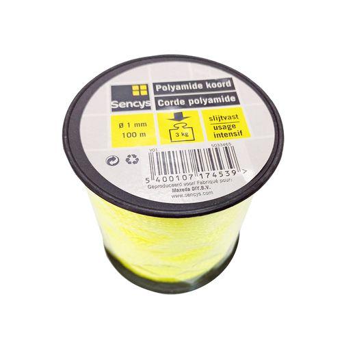 Sencys polyamide koord  geel 1 mm x 100 m