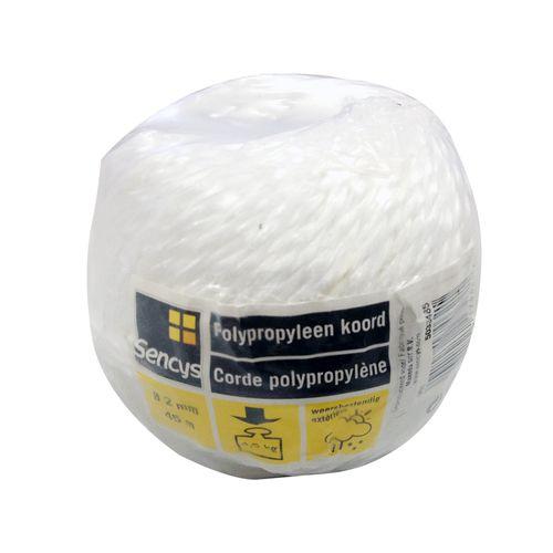 Sencys polypropyleen koord wit 2 mm x 45 m