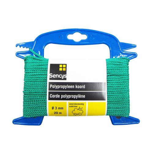 Sencys polypropyleen koord groen 3 mm x 20 m
