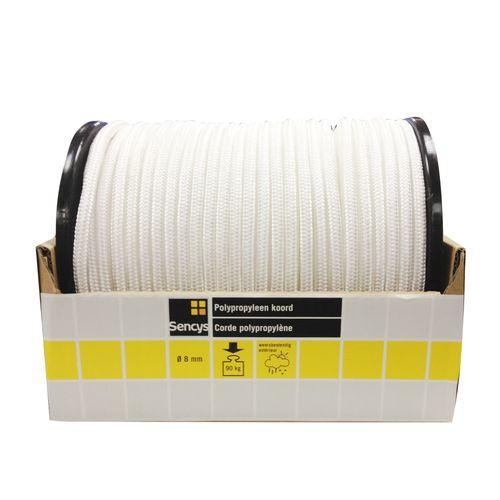 Corde polypropylène Sencys blanc 8 mm x 1 m