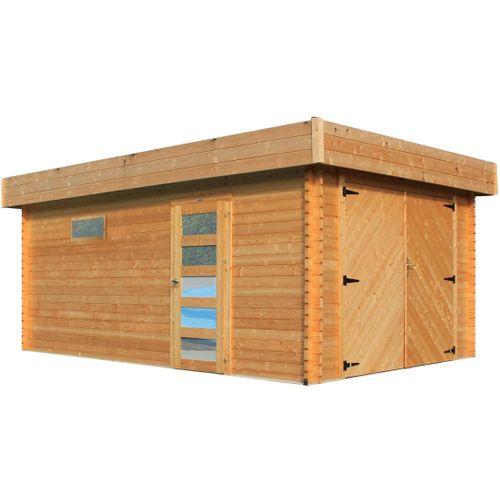 Solid garage 'S8993' hout 17,07 m²