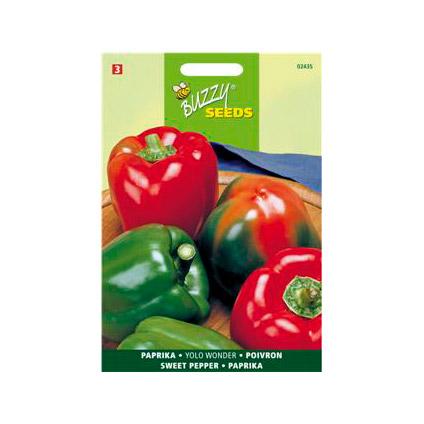 Buzzy seeds zaden paprika yolo wonder