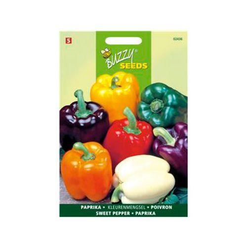 Buzzy seeds zaden paprika 5 kleuren