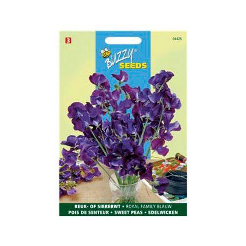 Buzzy seeds zaden reuk- of siererwt royal family blauw