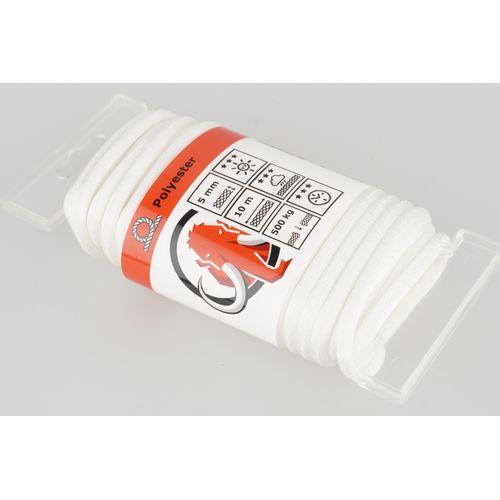 Corde Mamutec polyester blanc 5 mm x 10 m