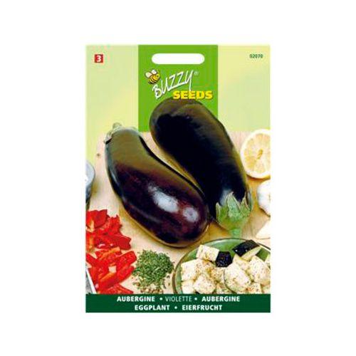 Buzzy seeds zaden aubergine lange violette