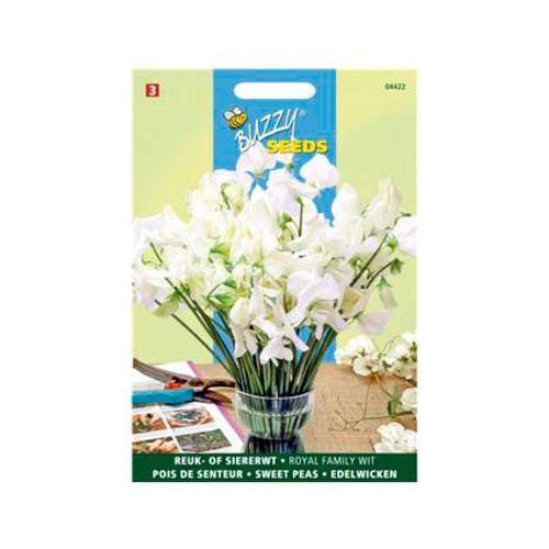 Buzzy seeds zaden reuk- of siererwt royal family wit