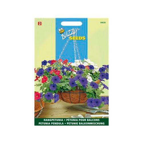 Buzzy seeds zaden petunia multiflora f1 kleurenmengsel