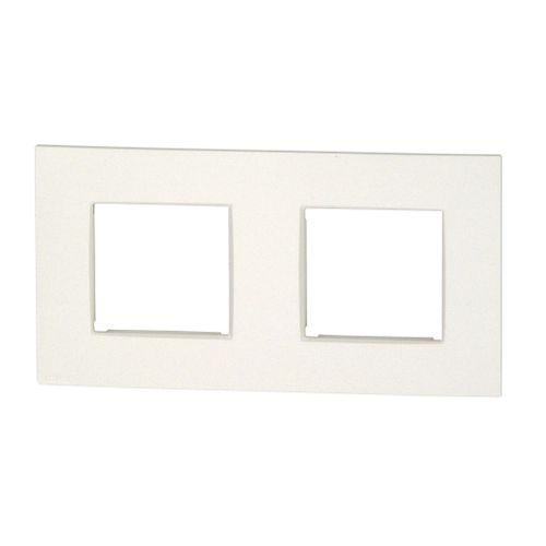 Plaque de recouvrement double horizontale Niko blanc
