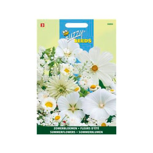 Buzzy seeds zaden zomerbloemen wit