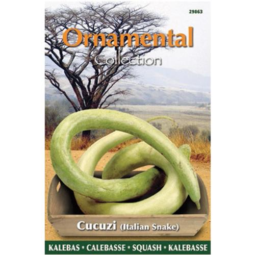 Ornamental collection zaden kalebas cucuzi italian snake