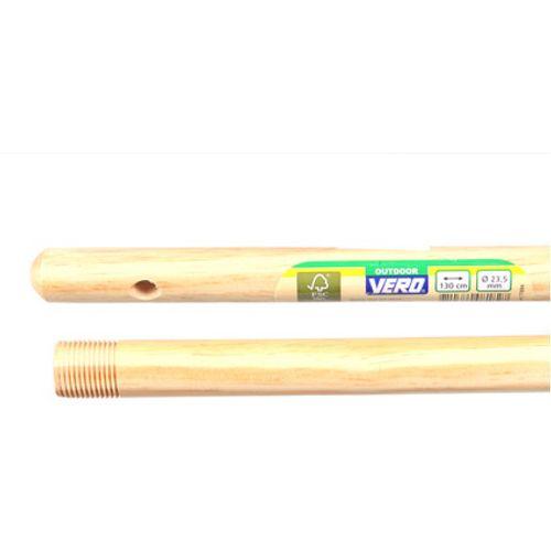 Vero bezemsteel voor steelverbinding met Franse/Duitse draad hout 130 cm