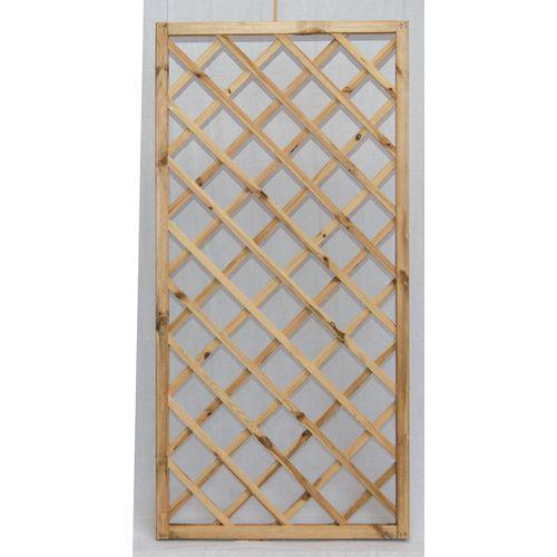 Trellis kader FSC geïmpregneerd hout 60x180cm bruin