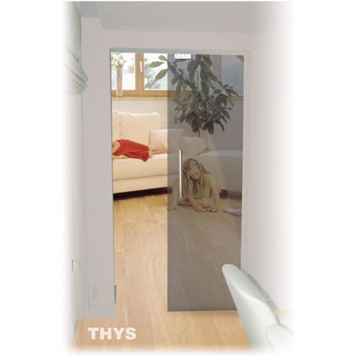 Porte coulissante en verre sécurit Thys 'Thytan Sliding' gris fumé 215x93cm